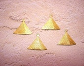 Pyramid Charms Egyptian Supplies Brass Jewelry Findings on Etsy x 4