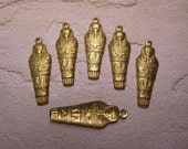 Sarcophagus Egyptian Mummy Brass Jewelry Charms/Mixed Media Art/Collage on Etsy x Quantity Choice