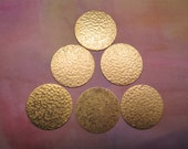 Hammered Discs Large Brass Medallion 34mm on Etsy x Quantitly Choice 2-4 or 6