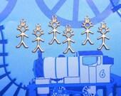 SALE---1.00---6 Tiny Stick BOY Kawaii Brass Charms on Etsy