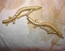 Tree Branch Stamping Brass Branch Supply on Etsy x 2