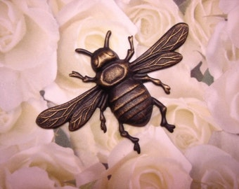 Queen Bee Antique Brass Large Stamping on Etsy x1