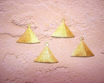 Pyramid Charms, Egyptian Supplies, Brass Jewelry Findings, Quantity Choice