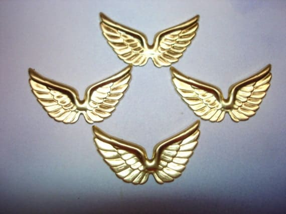 Double Wing Brass Jewelry Stamping on Etsy x4