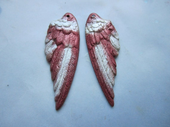 Angel Wings Original Iridized Red/Shimmering White Medium Size on Etsy
