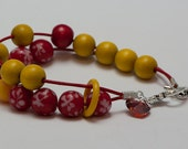 Red and yellow counting bracelet