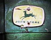 John Deere tractor photo, Tractor photography, Farm photography, Tractor, Green and yellow, Rustic, Farm wall art, 8x10, 11x14, 16x20