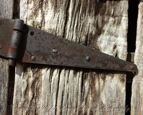 Items Similar To Rusty Hinge Photo Barn Wood Farm