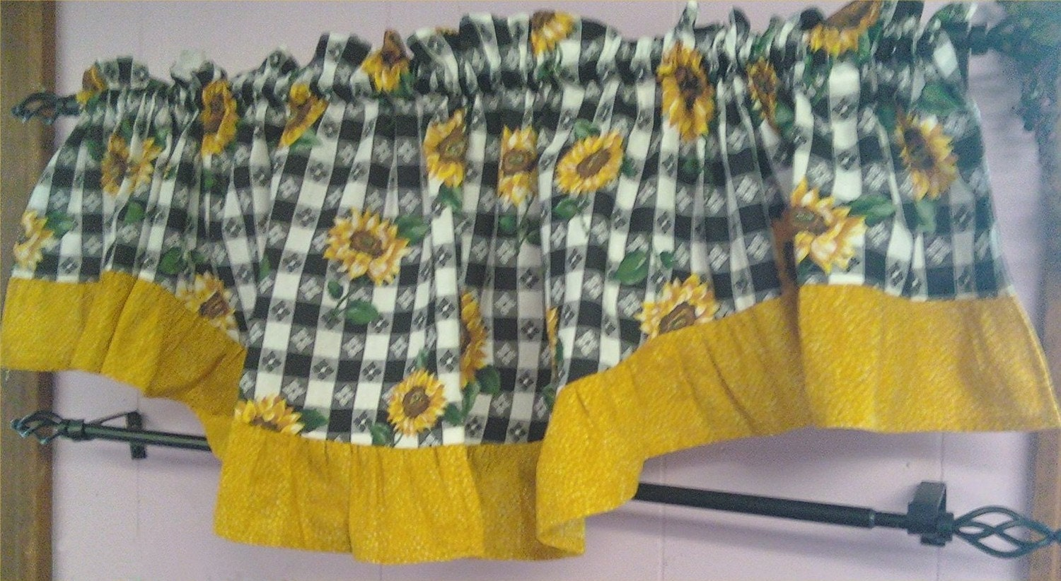 Sunflower Kitchen Valance
