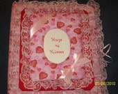 VALENTINE / ENGAGEMENT / SHOWER Personalized Heart Fabric Photo Album / Scrapbook