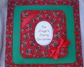 CHRISTMAS Personalized 12 x 12 Top Load Fabric SCRAPBOOK