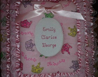 PRINCESS Personalized Fabric Album / Scrapbook BRAG BOOK