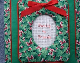 CHRISTMAS Personalized Fabric Photo Album / Scrapbook