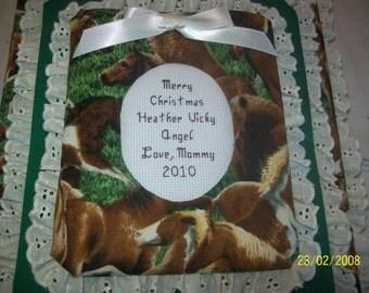 HORSE Personalized Fabric Album / Scrapbook