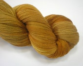 CLEARANCE hand dyed laceweight merino silk yarn HONEY  1312 yds