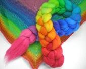 die Hand gefärbten superwash Flyer wolle oben drehenden Glasfaser Regenbogen Fortschreiten dankbar gefärbt 4 oz.