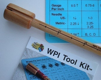 Wraps Per Inch Gauge tool for spinners and yarn lovers wpi