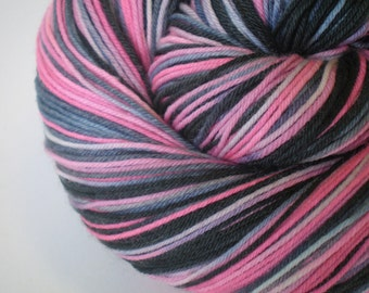 hand dyed sock yarn superwash merino nylon fingering HOPE 460 yds.