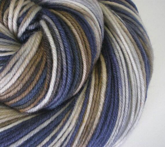 Clearance merino superwash DK yarn hand dyed URBAN CAMO 230 yards