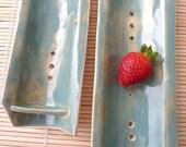 SALE -- Bamboo Inspired Berry Colander Set (Celadon)
