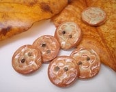 SALE ITEM -- Ceramic Buttons with Cherry Blossom (Set of 6)