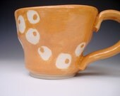 Mug with Abstract Design (Persimmons Orange)