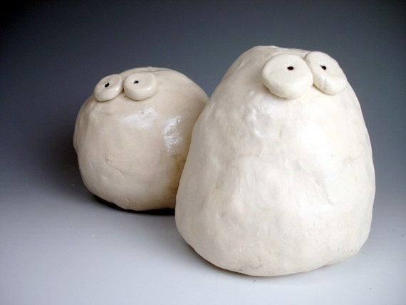 RESERVED for lalynn123 -- Rocks with an Attitude (Salt and Pepper Shakers)