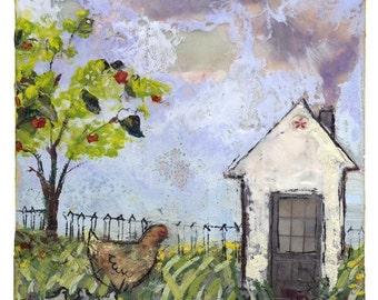 Hen's House - Giclee Print
