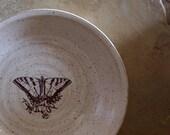 Butterfly Stoneware Ceramic Pottery Pie Plate