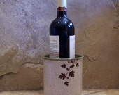 Grape Vine Stoneware Ceramic Pottery Wine Chiller
