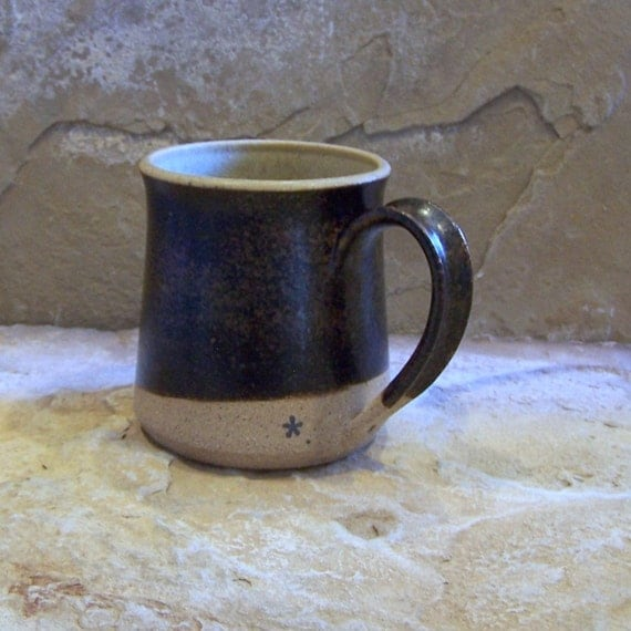 Burnt Clay and Straw Stoneware Ceramic Pottery Mug