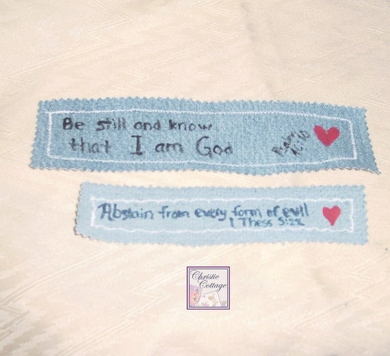 PIF Christian Bookmarks - Set of 2 - Scripture - Hand Painted -002