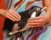 Orwell Clutch - Black Penguin Purse