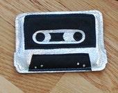 Geek Love - Silver Cassette Tape Card Holder