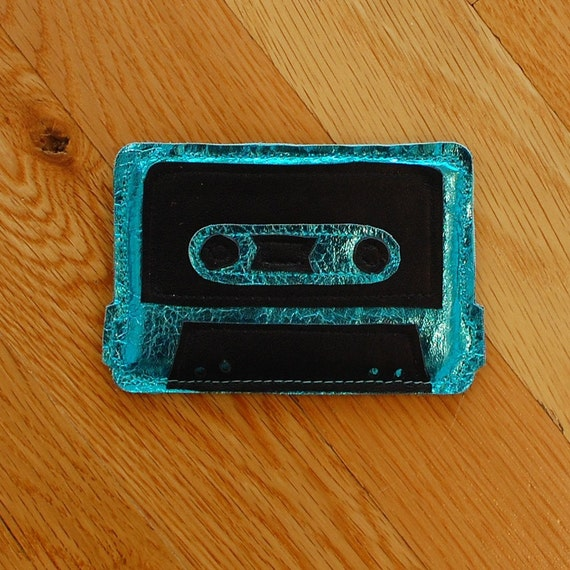 Geek Love - Teal Cassette Tape Card Holder