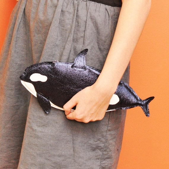 Orwell Clutch - Navy Orca Purse