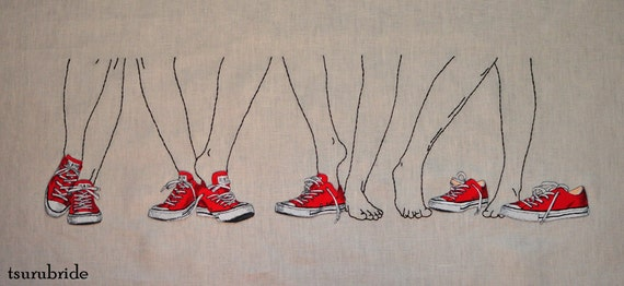 States of Undress No. 16 Embroidered Wall Hanging