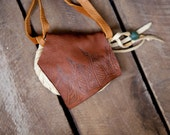 one of a kind deerskin pouch