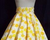 Lemon print Betty circle skirt
