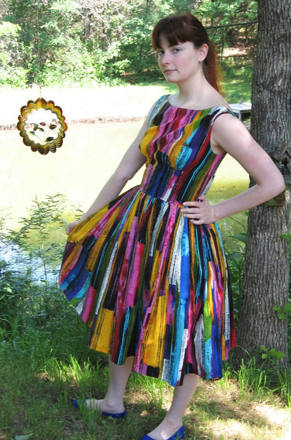 Alexander Henry Rainbow vintage Betty Dress - Only one available