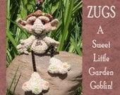 Gnome Goblin Elf Troll Crochet Pattern in PDF Digital Format Milk Cap Cutie Amigurumi by Peggytoes Toy Doll or Computer Buddy