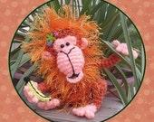 Orangutan Monkey Crochet Pattern in Digital PDF format  Doll Toy Milk Cap Cutie 21st