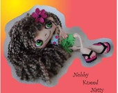 Digital PDF Felt Bendable Doll Sewing Pattern Nobby Kneed Natty by Peggytoes Inner Tube Flip Flops Outfit