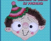 Digital PDF Crochet Pattern Christmas or Garden Elf Gnome Pixie Potholder Pot Holder or Wall Decoration Decor by Peggytoes