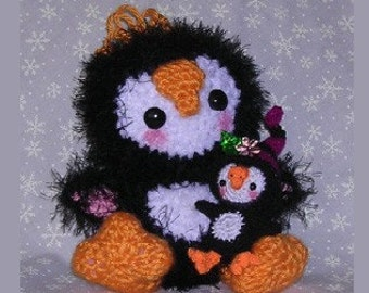 Ping Ping the Penguin A Digital Crochet Pattern by Peggytoes Stuffed Animal Ornament Package Tie-On Christmas Gift