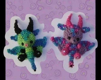 Dairigon the Dragon Milk Cap Cutie Digital PDF Crochet Pattern Quick and Easy
