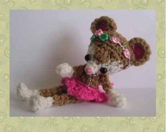 Merry Mouse Digital PDF Crochet Pattern 24th Milk Cap Cutie by Peggytoes Mice Rat Christmas