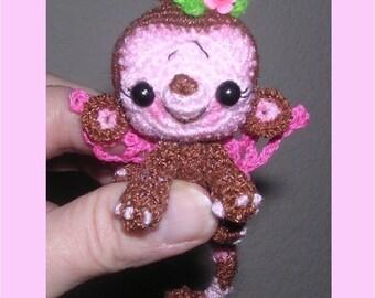 Tiny Miniature  Monkey Fairy Crochet Pattern Digital PDF by Peggytoes