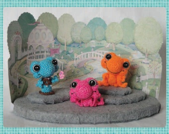 Digital PDF Miniature Frog Crochet Pattern  a Sinker Baby Pattern by Peggytoes
