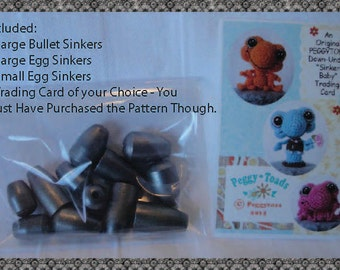 12   Steel SINKERS for the Sinker Baby Crochet Pattern Line for US Buyers ONLY (not Hawaii)